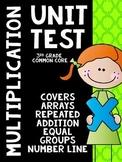 Common Core 3rd Grade- Multiplication Assessment- Arrays,