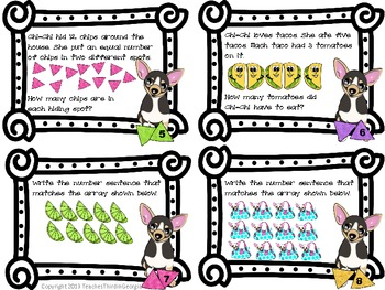 Common Core 3rd Grade Multiplication Task Cards Arrays
