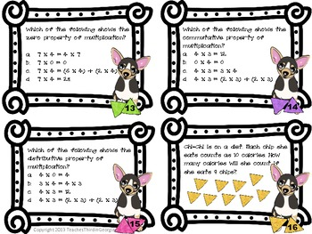 Common Core 3rd Grade-Multiplication Task Cards-Arrays, Addition, Word Problems