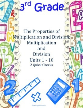 Common Core 3rd Grade Multiplication and Division Properties Units 1-10