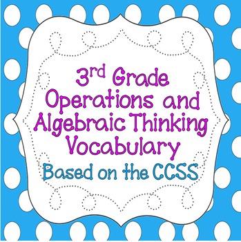CCSS 3rd Grade Operations & Algebraic Thinking Word Wall P