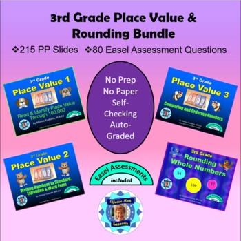 Common Core 3rd Grade - Place Value & Rounding Bundle - Four Lessons