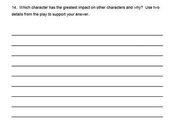 Common Core 3rd Grade Reading Assessment