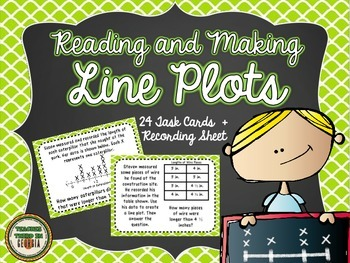 Common Core 3rd Grade- Reading and Making Line Plots Task Card Kit