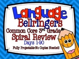 Common Core 3rd Grade- Spiral Language Review-90 Days-Part One-No Copies Needed!