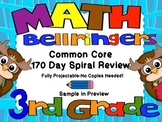 Common Core 3rd Grade-Spiral Math-170 Days-Projectable or Printable