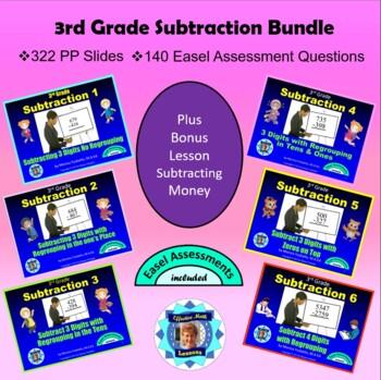 Common Core 3rd Grade Subtraction Bundle - Seven Lessons