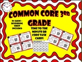 Common Core 3rd Grade-Time to the Minute-QR Code Task Cards