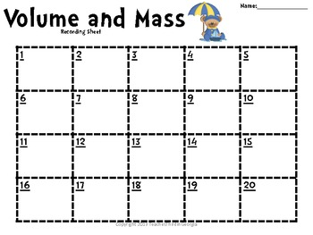 Common Core 3rd Grade-Volume and Mass Task Cards Set