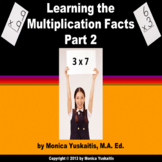 Common Core 3rd Multiplication Facts Part 2