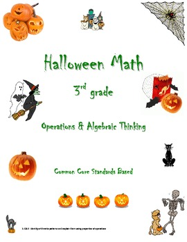 Common Core 3rd grade Halloween Pack (3.OA.9 Operations and Algebraic Thinking)