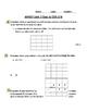 Common Core 3rd grade Math/ Investigations Unit 3 After Session 2.2 Quiz -