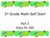 Common Core 3rd grade Math Self Start Part 2