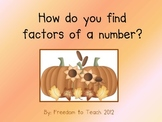 Common Core-4.0A.4 *Finding Factors using base 10 blocks a