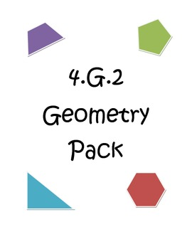 Common Core 4.G.2 Geometry Pack
