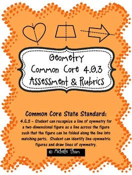 Common Core 4.G.3 {Geometry Assessment & Rubrics}
