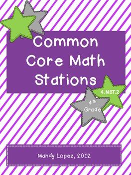 Common Core 4.NBT.2 Math Stations