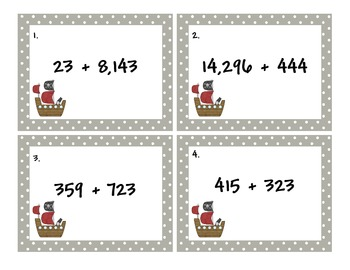 Common Core 4.NBT.4 Addition and Subtraction Scoot Sail Away Game