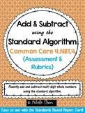 Common Core 4.NBT.4 {Standard Algorithm Assessment & Rubrics}