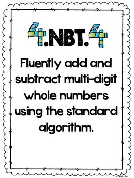 Common Core 4.NBT.4 {Standard Algorithm Assessment & Rubrics}