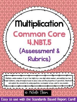 Place value rubrics resources lesson plans teachers pay teachers common core 4nbt5 multiplication assessment rubrics fandeluxe Gallery
