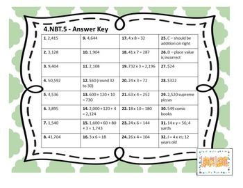 Common Core 4.NBT.5 - Whole Number Multiplication Task Cards
