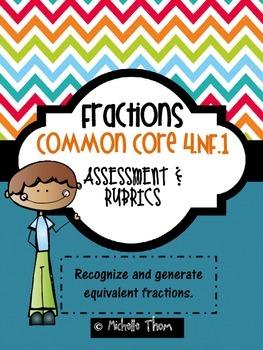 Common Core 4.NF.1 {Fraction Assessments & Rubrics}
