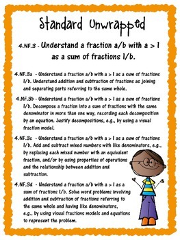 Common Core 4.NF.3 {Adding Fractions Assessments & Rubrics}