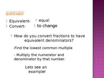 Common Core 4.NF.5 Fractions with Demoninators of 10 and 100