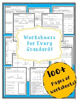 **WorkBook 4th Grade Common Core- Worksheets and Assessments
