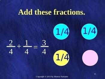 Common Core 4th - Fractions 5 - Adding Like Denominators