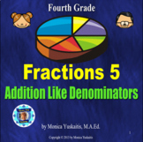 Common Core 4th - Fractions 5 - Adding Like Denominators