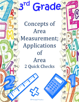 Common Core 3rd Grade Concepts and Applications of Area Me