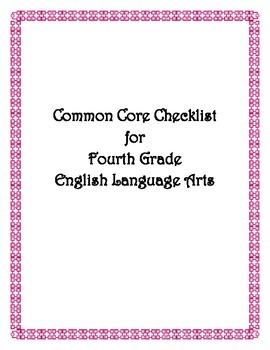 Common Core: 4th Grade ELA Checklist