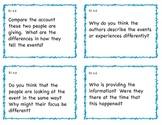 Common Core 4th Grade ELA Question Cards