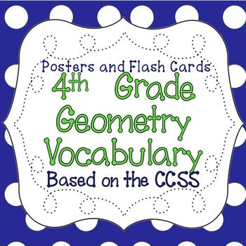 Common Core 4th Grade Geometry Vocabulary Word Wall Poster