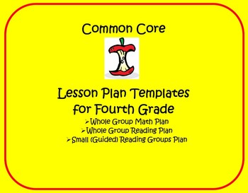 Common Core Th Grade Lesson Planning Templates By Lisa Steele TpT - Guided reading lesson plan template 4th grade