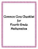 Common Core: 4th Grade Math Checklist
