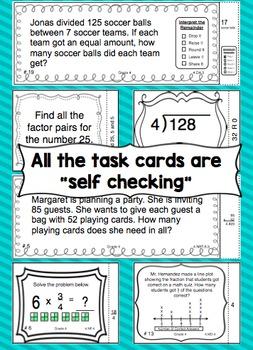 Math Task Cards - 4th Grade Mega Bundle