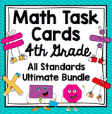 4th Grade Math Task Cards All Standards Bundle