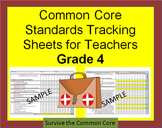 Tracking Sheets (EDITABLE) Common Core 4th Grade Math by Domain/Cluster/Standard