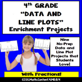 4th Grade Line Plots Enrichment Projects, Vocabulary Handout
