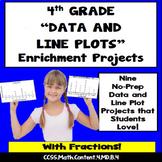 4th Grade Line Plots Enrichment Projects, Vocabulary Handout