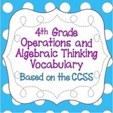 CCSS 4th Grade Operations & Algebraic Thinking Word Wall P