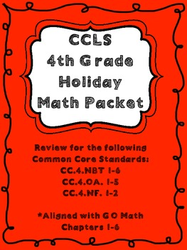 Common Core 4th Grade PlaceValue, Multiplication & Division Review (Go Math)