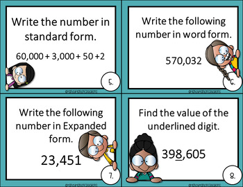 Go Math 4th Grade Place Value Addition and Subtraction Game