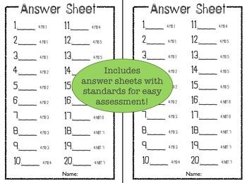 Common Core 4th Grade Task Cards - Measurement and Data
