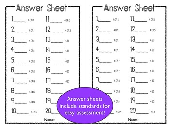 Common Core 4th Grade Task Cards Bundle - Covers ALL standards