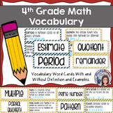 4th Grade Math Vocabulary Signage Part 1