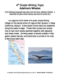 Fourth Grade Writing Prompt:  Adelina's Whales